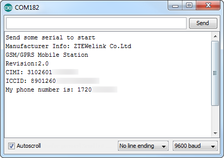 GetInfo Serial Monitor example