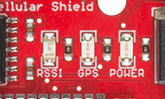 Cell Shield's LEDs