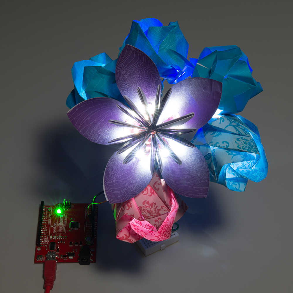 Origami Paper Circuits Circuit Scribe For Sale Bouquet Of Flowers In The Dark