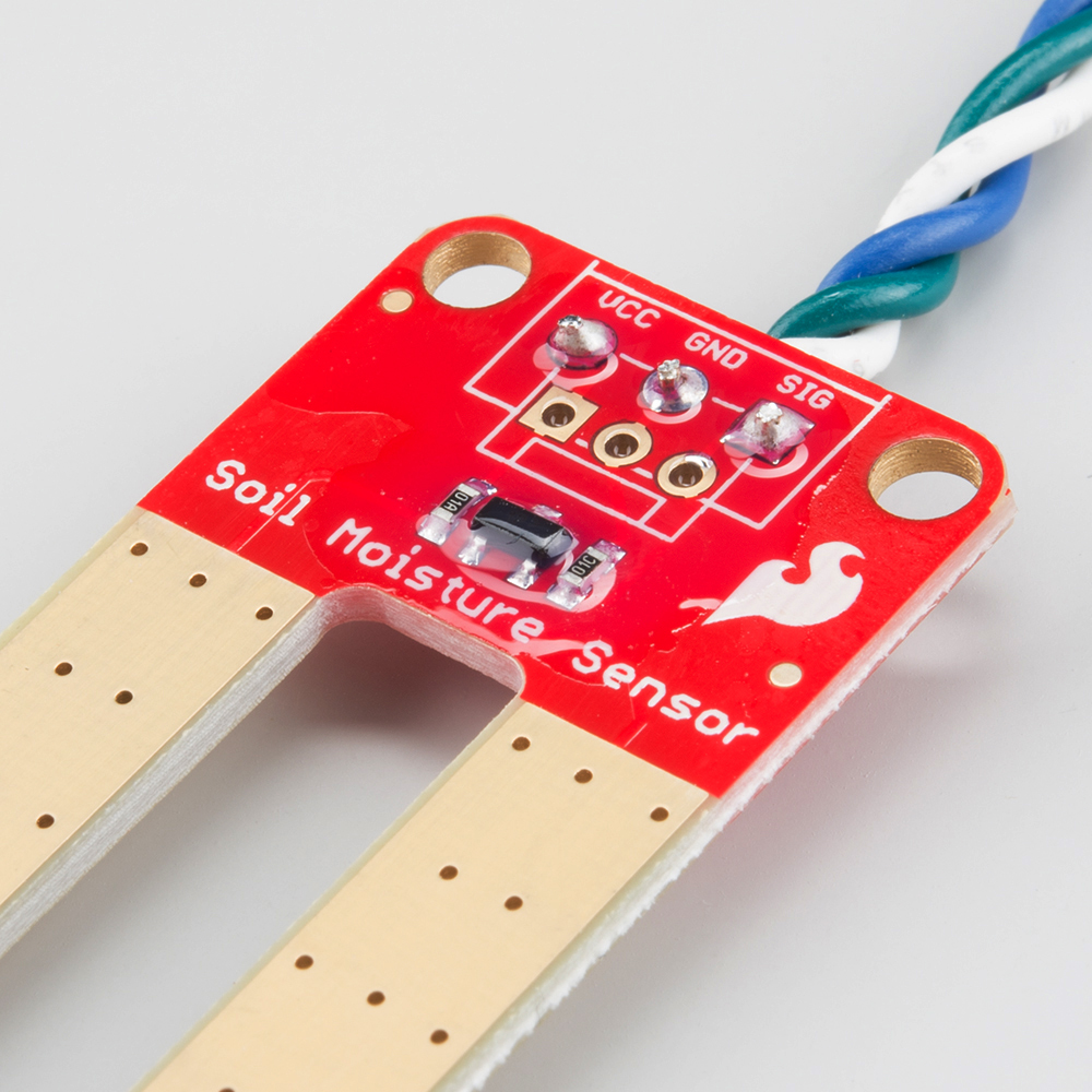 Soil Moisture Sensor Hookup Guide Simple Water Level Indicator Numeric Circuit Wires Soldered To