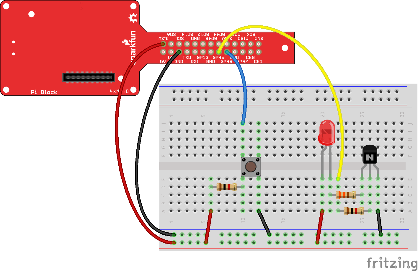 Sparkfun Blocks For Intel Edison Pi Block Project 82 Breadboard Operational Amplifier Circuit Connections