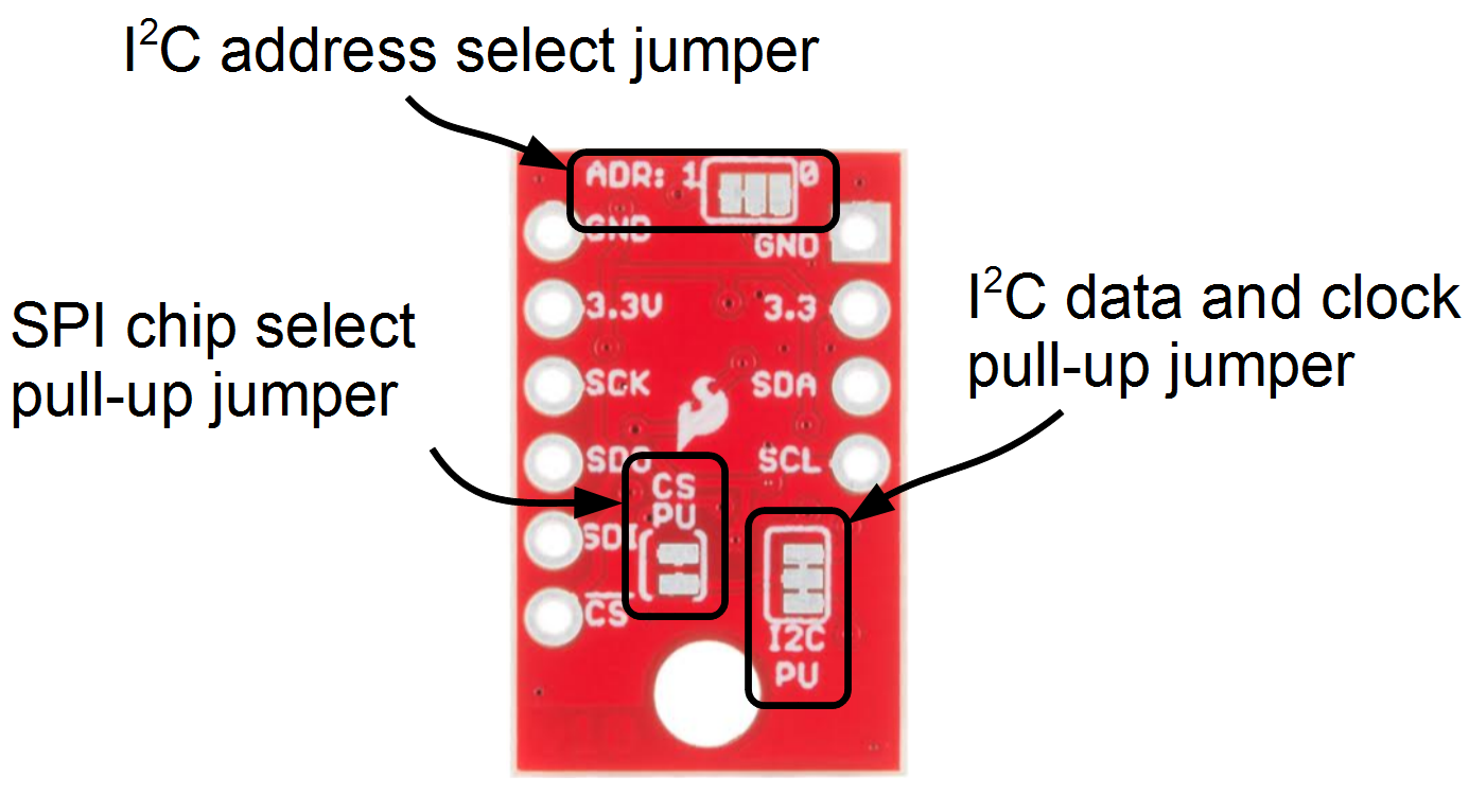 Sparkfun Bme280 Breakout Hookup Guide Better Way To Achieve Level Convertion Is Use A Shifter Or Pull Ups Can Be Left Connected Even When Using Spi Mode So Youll Probably Never Have Touch These