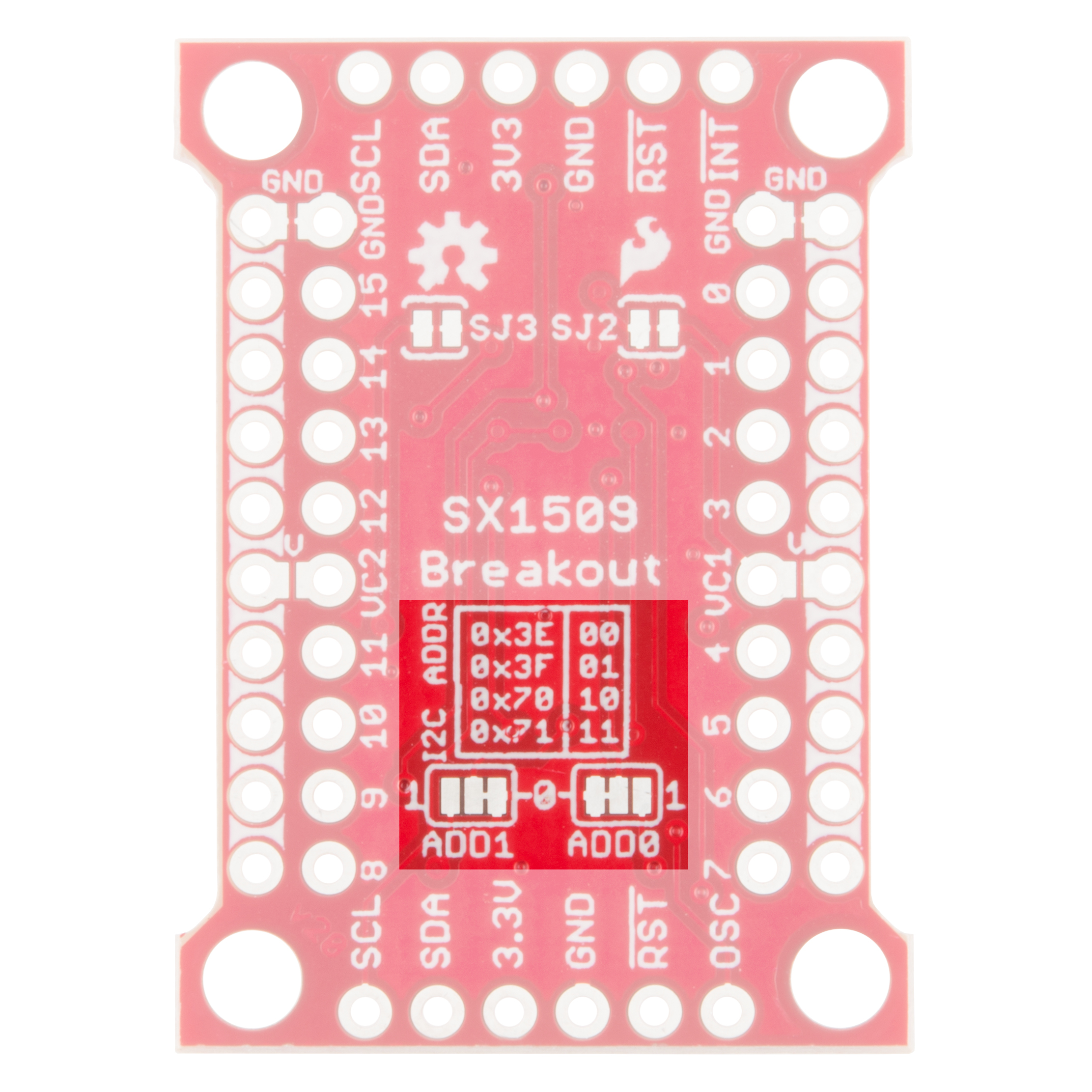 Wiringpi Arduino I2c Sx1509 I O Expander Breakout Hookup Guide Address Select Jumpers