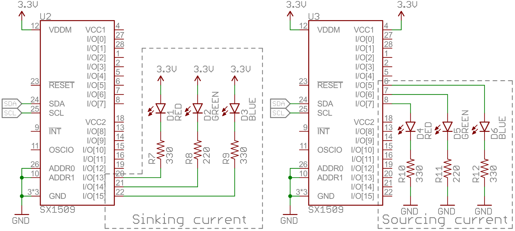 Sx1509 I O Expander Breakout Hookup Guide Wiringpi Input Interrupt Example Led Driving