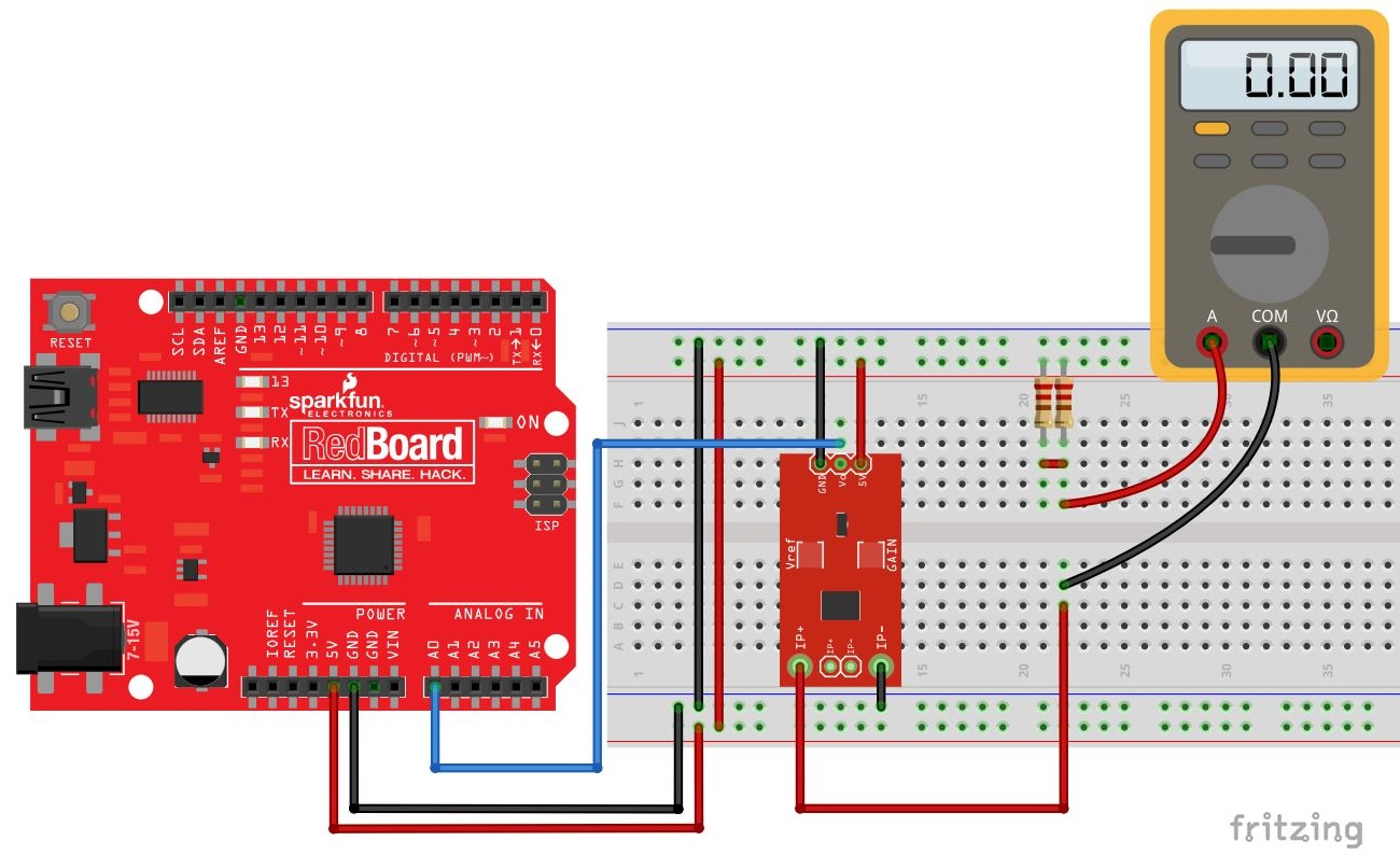 Current Sensor Breakout Acs723 Hookup Guide Ic Hall Effect Sensors Circuit Adjusting Gain