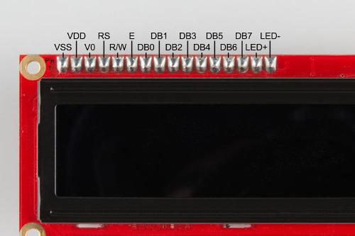 Character LCD pinout