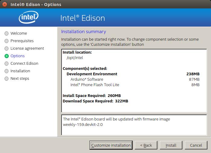 Customize installation on XDK