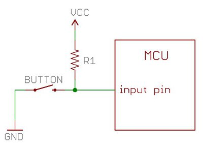 Example of a pull-up resistor