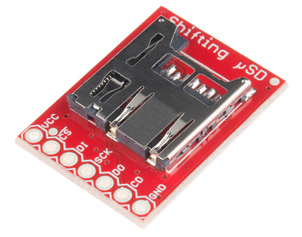 MicroSD Breakout With Level Shifter Hookup Guide - learn sparkfun com
