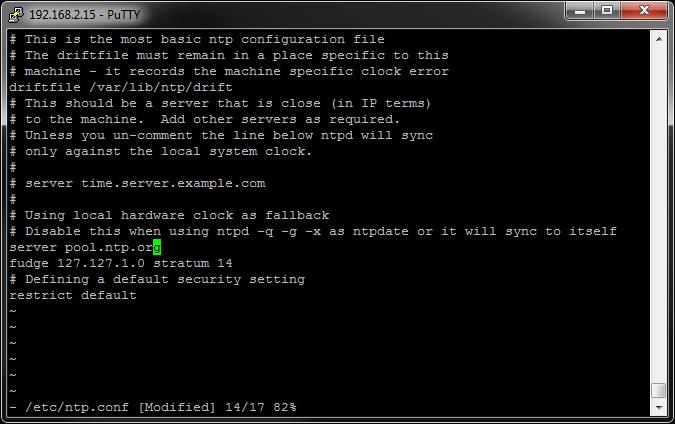 Configure NTP client