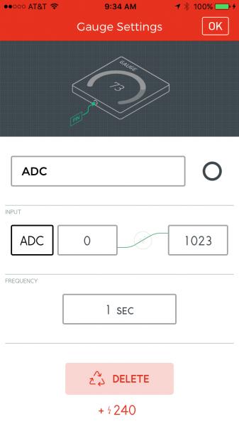 ADC gauge settings