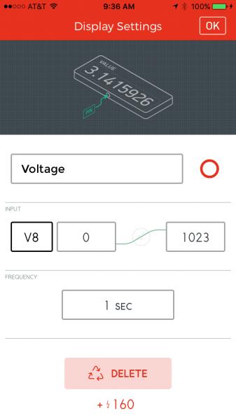Value widget settings