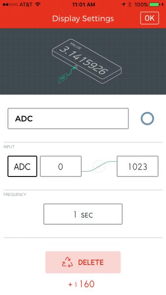 ADC value setting