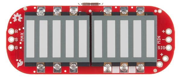 MyoWare LED Shield top view