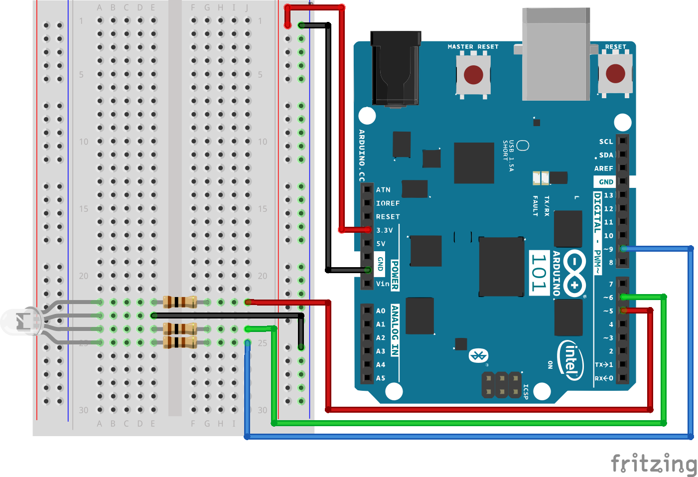 Sik Experiment Guide For The Arduino 101  Genuino 101 Board