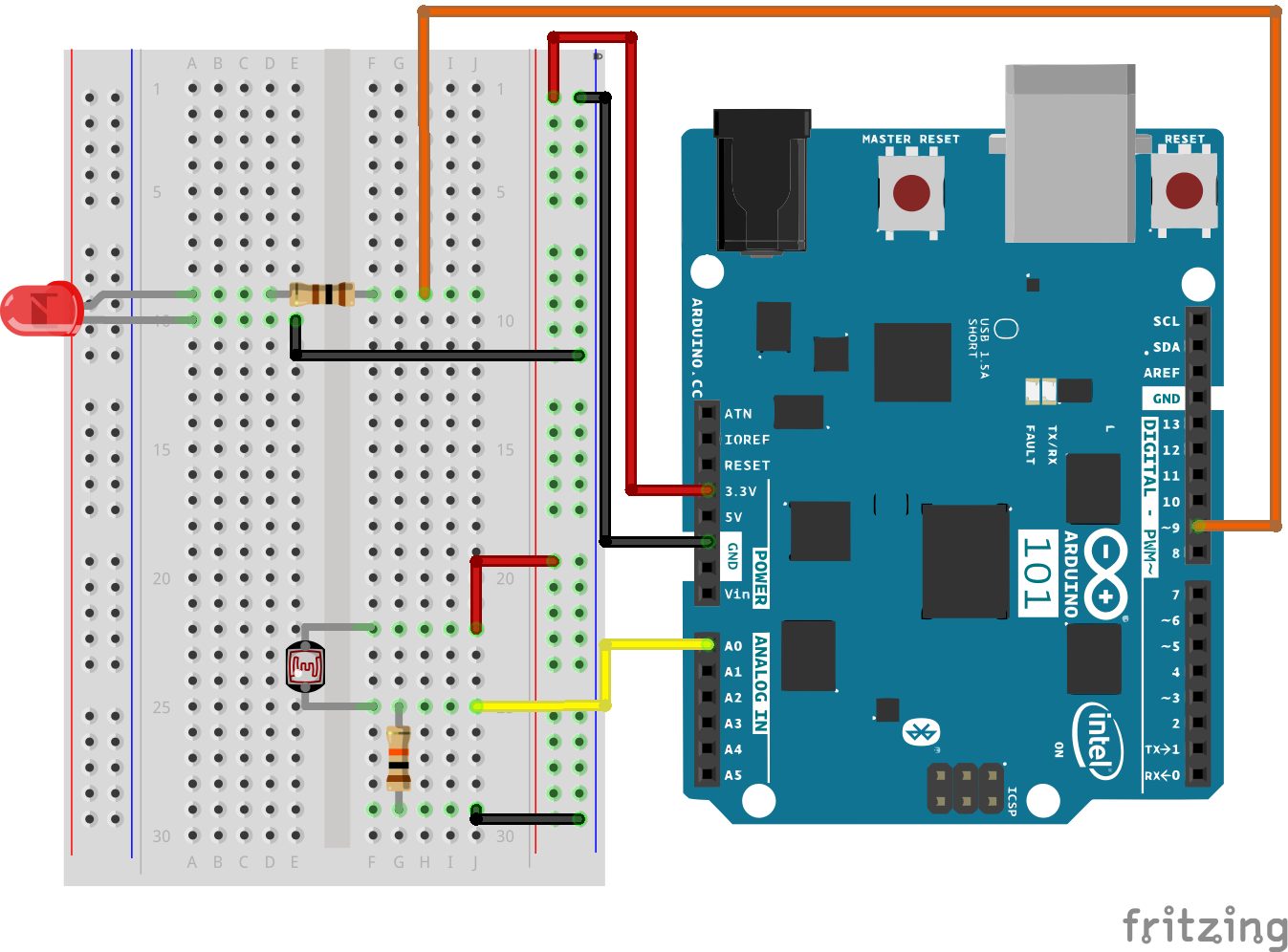 Sik Experiment Guide For The Arduino 101 Genuino Board Learn 7 Leds In A Series And Parallel Circuit Alt Text