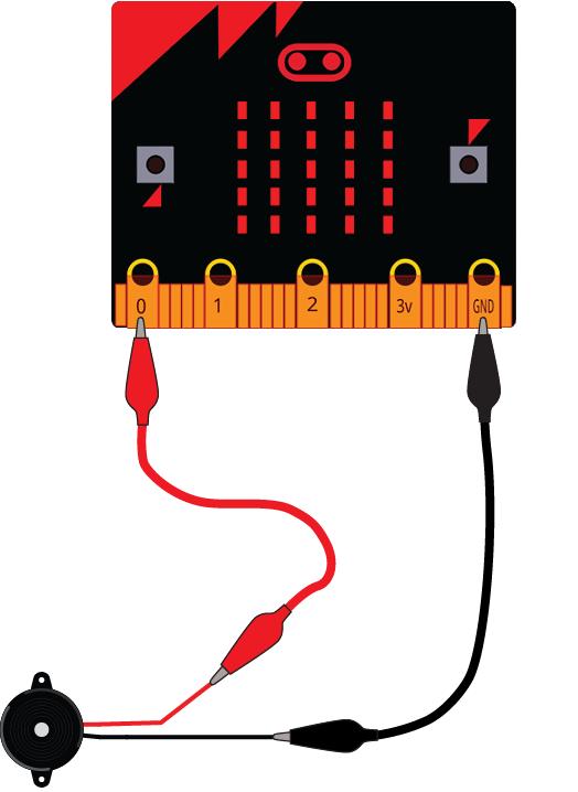 Fritzing Diagram: micro:bit Piezo Buzzer