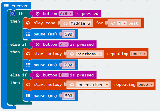 Code to Note Using a Buzzer