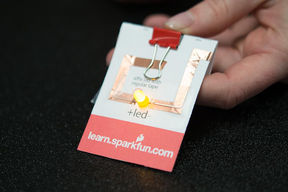 paper circuit pin  learnsparkfun