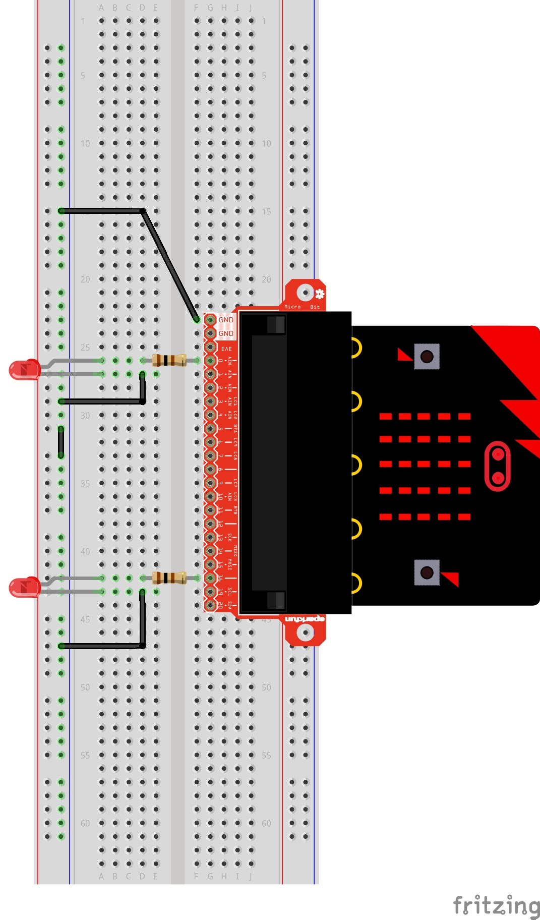 Sparkfun Inventors Kit For Microbit Experiment Guide Learn Digital Compass Circuit Fritzing Diagram Exp 11