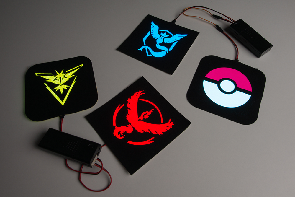Pokémon Go Patches with EL Panels - learn.sparkfun.com