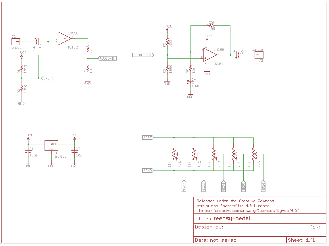 Proto Pedal Example Programmable Digital Potentiometer Wiring Diagram Stereo Volume Controls Teensy Schematic Click To Enlarge