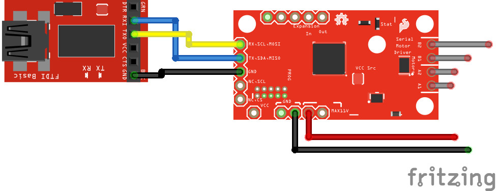 Serial Controlled Motor Driver Hookup Guide - learn sparkfun com