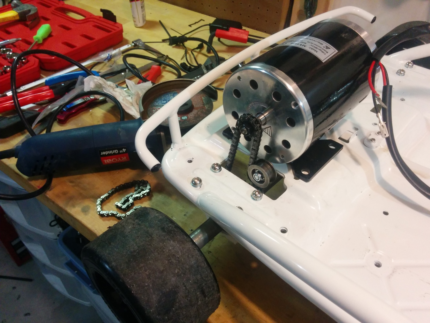 Building An Autonomous Vehicle The Batmobile Control Machine Motor Wiring New Larger On Chassis
