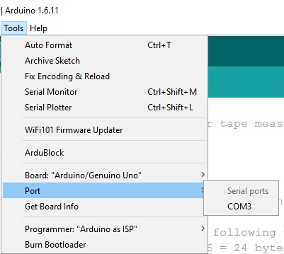 Missing COM port in Arduino IDE Tools -> Ports Menu