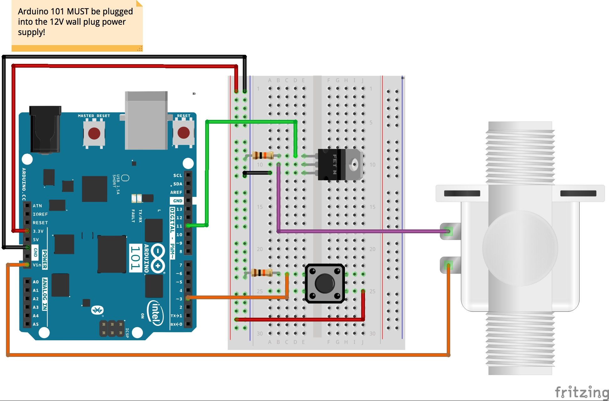 How To Wire Up Solenoid Valve: Smart Home Expansion Kit for Arduino 101 - learn.sparkfun.comrh:learn.sparkfun.com,Design