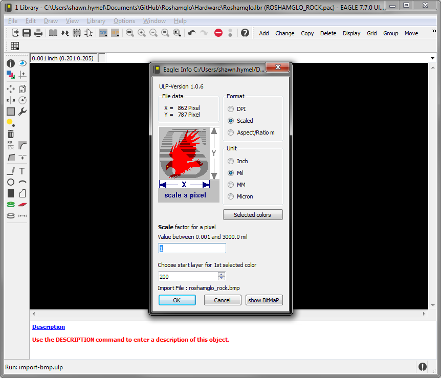 Importing Custom Images into Eagle - learn sparkfun com