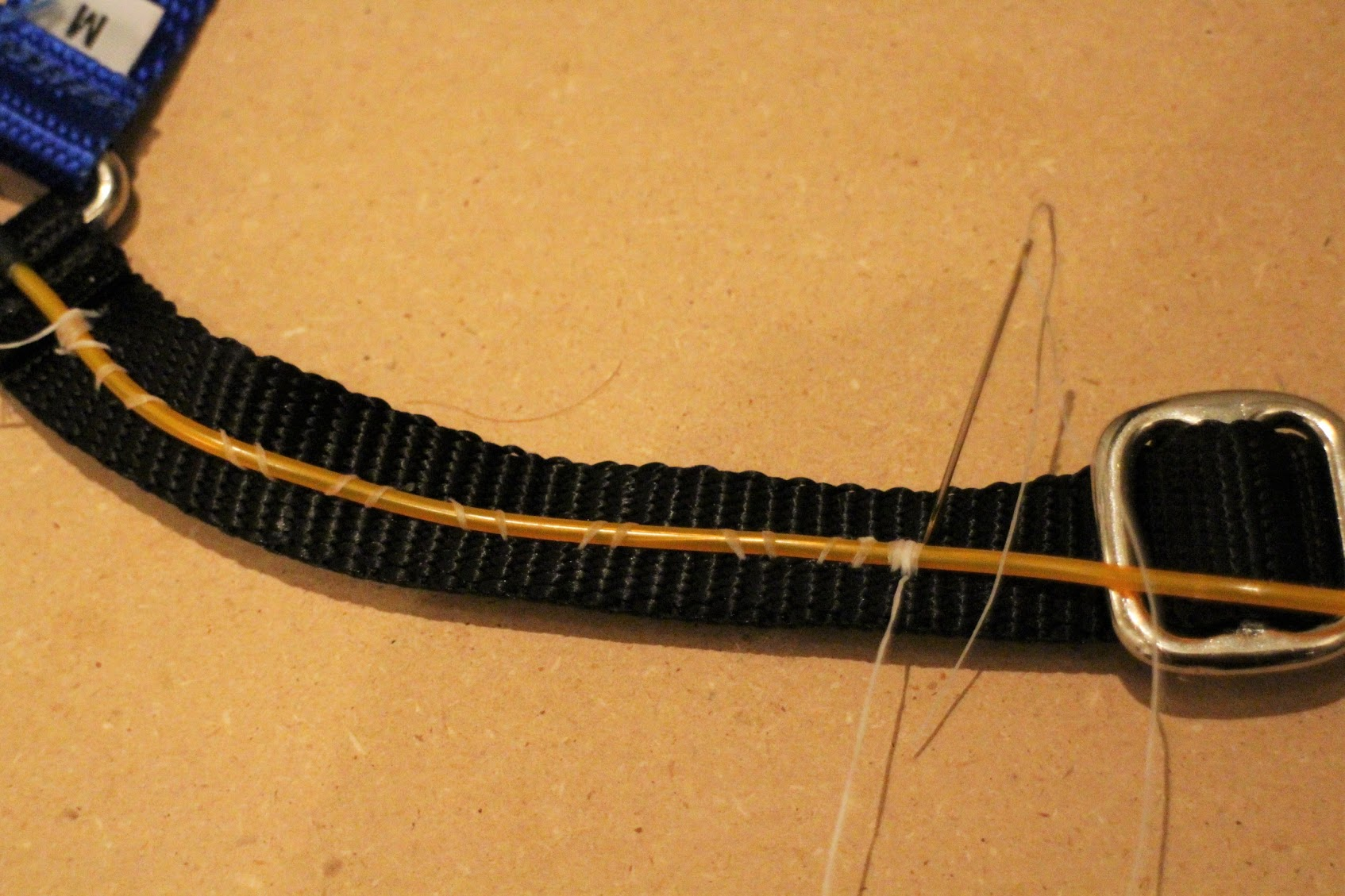 ELWire_Start el wire light up dog harness learn sparkfun com Wire Harness Assembly at n-0.co