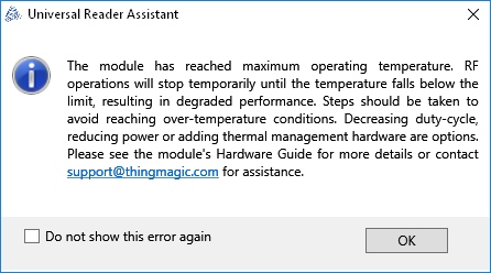 Thermal error window
