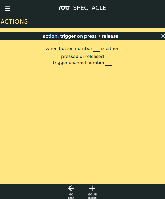 Action on press or release options