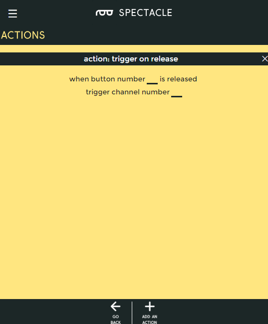 action on release options