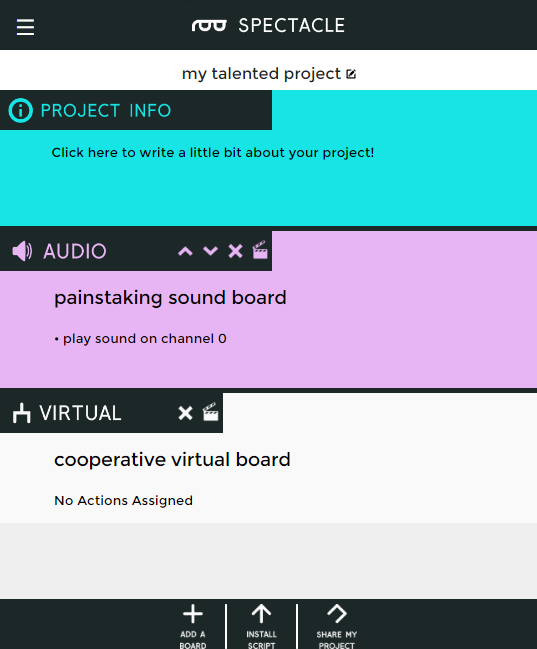 Virtual board in list