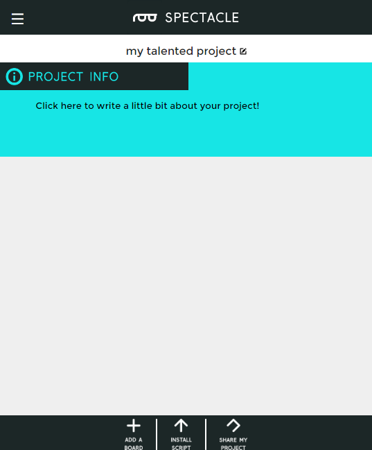 Blank project page