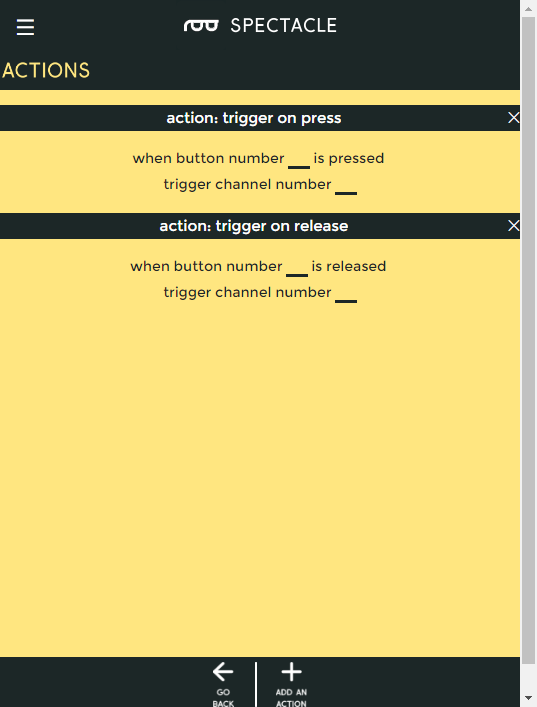 Button board actions