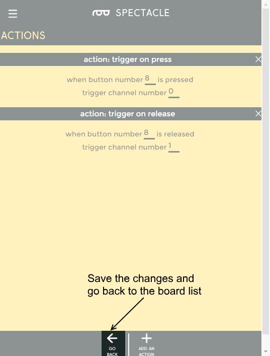 Go back button