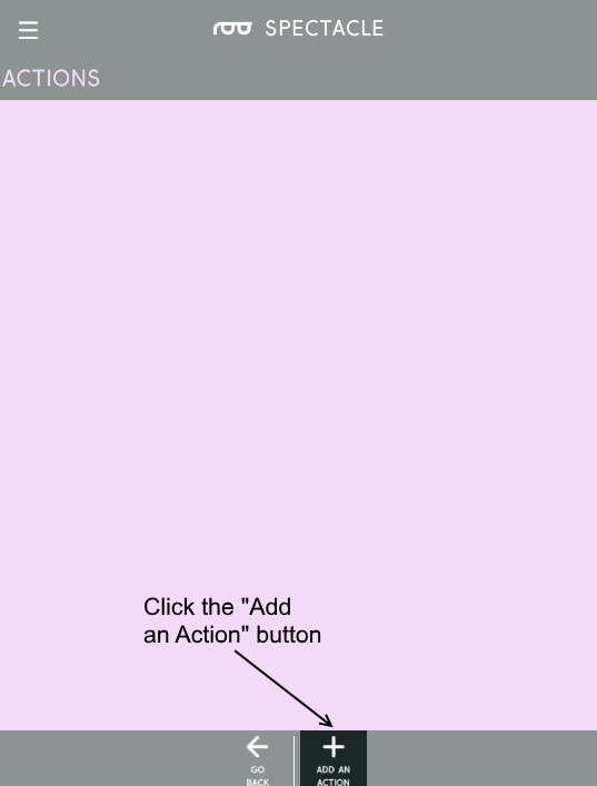 Add action button
