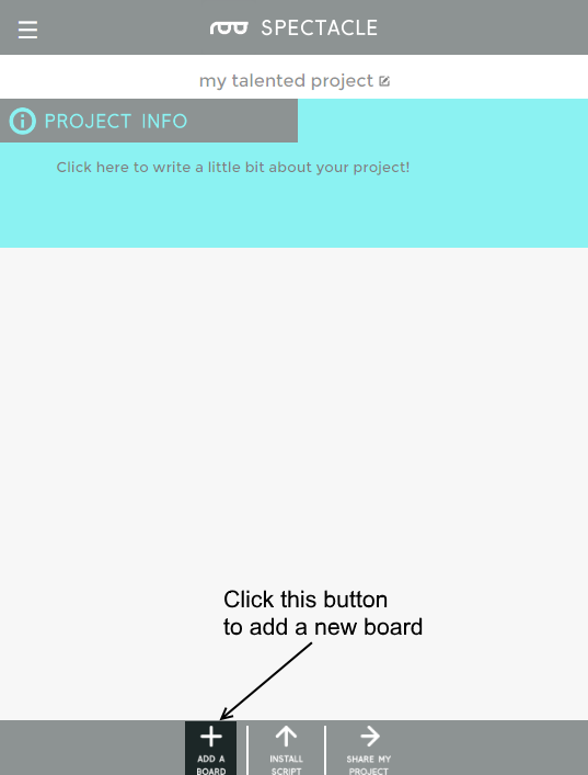 Add a board button