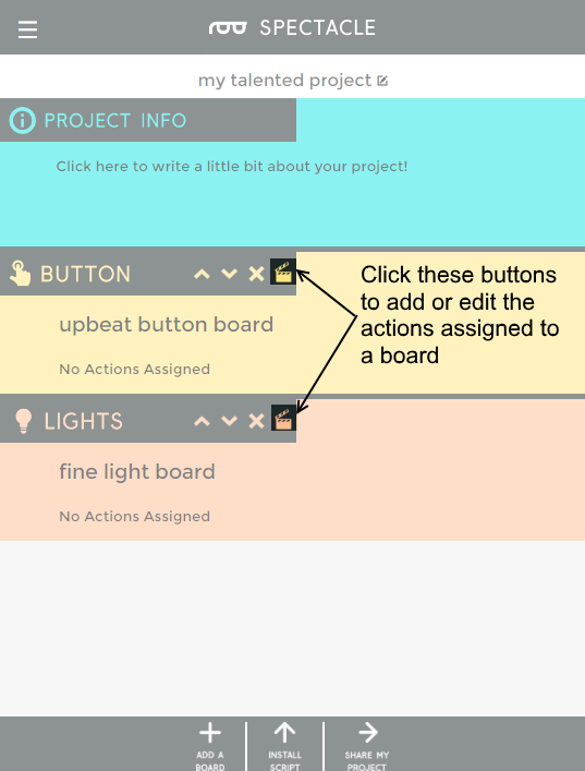 Edit buttons highlighted