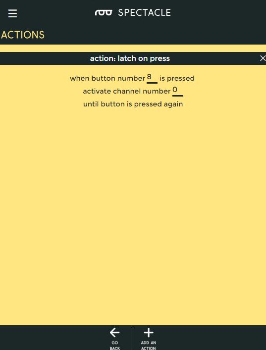 Latch mode button options