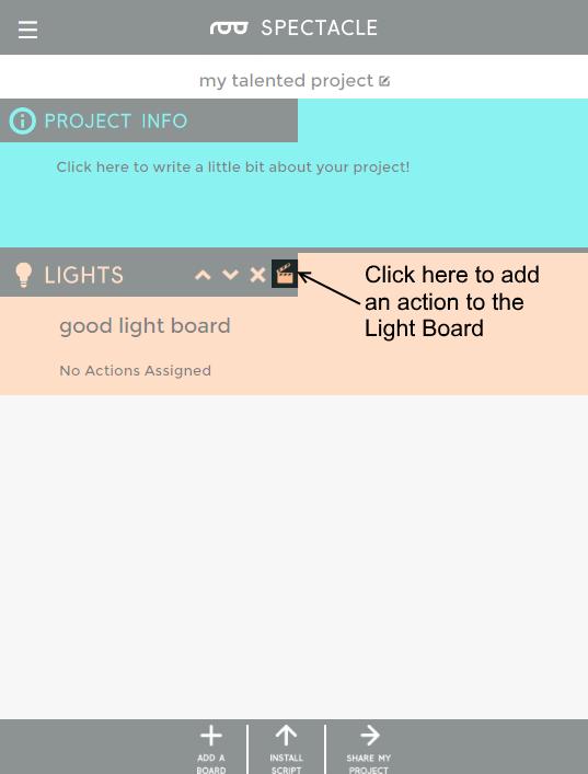 Light board edit button