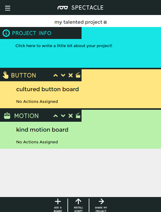 Boards added to project