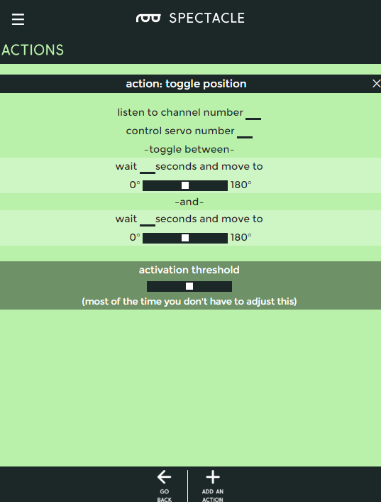 Toggle position action