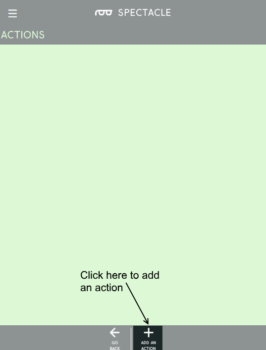 Empty action list