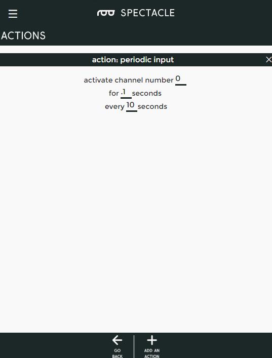 Periodic input
