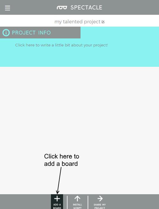 Add a board button