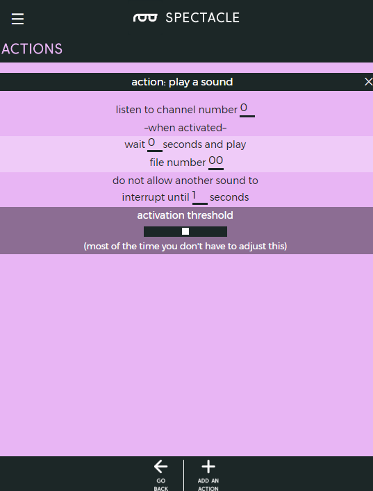 Settings for play sound